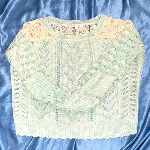 Delia's Blue Marbled Knit Sweater